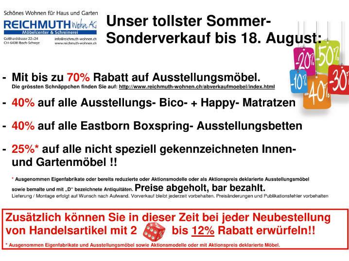 REICHMUTH Mbelcenter Amp Schreinerei Reichmuth Wohn AG